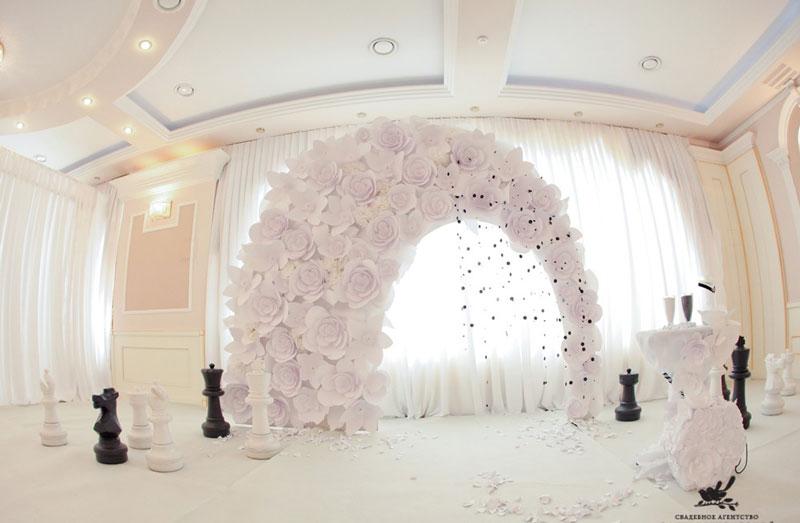 Оформление свадебной арки фото